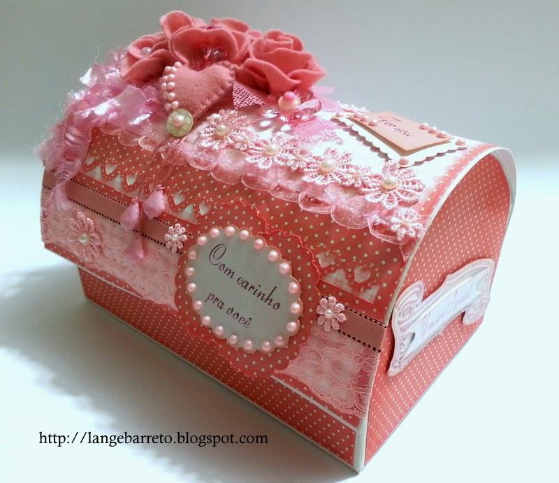 Caixa baú decorada