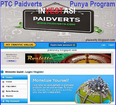 PTC Paidverts Punya Program INVESTASI