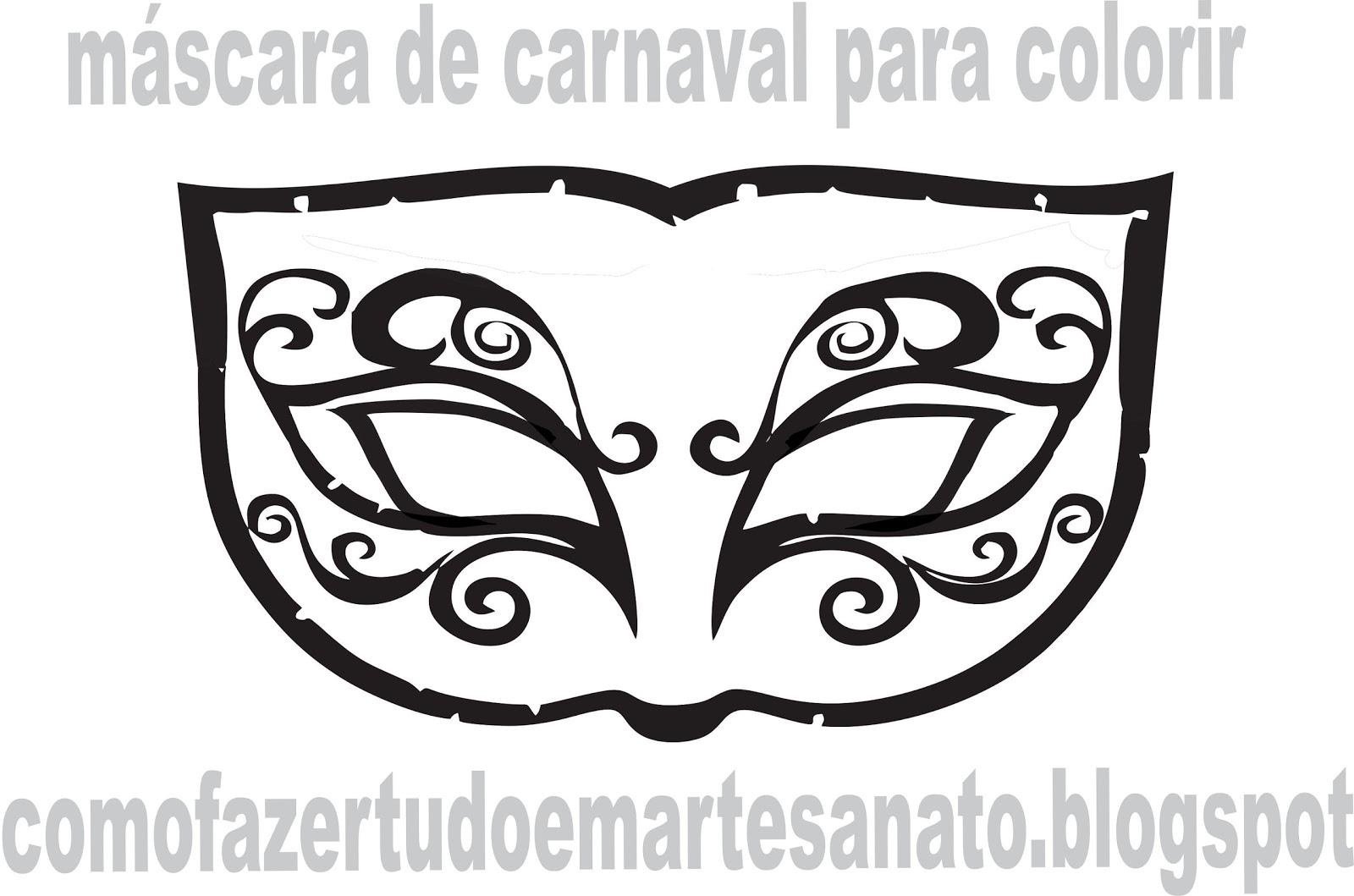 por como fazer mascaras de carnaval, desenhos, moldes de mascaras de
