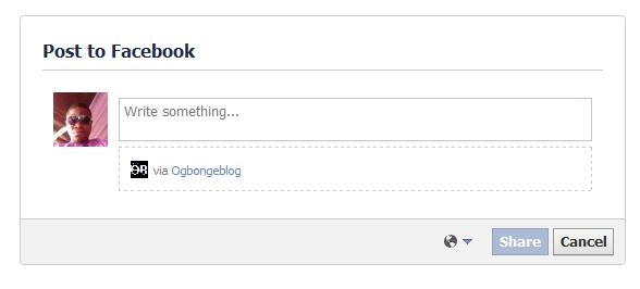 Facebook feed dialog