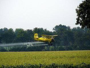 it's raining chemicals as pharmers spray pesticides without warning