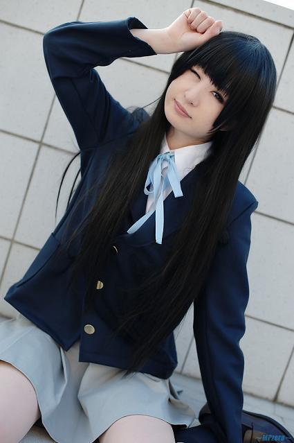 Cosplay Photos in Zip: K-On! Akiyama Mio Cosplay by Anji