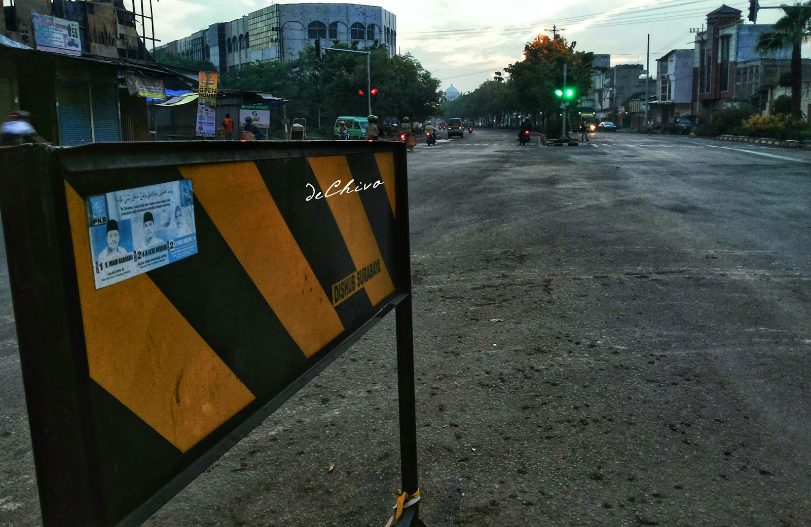 Suasana Surabaya di pagi hari