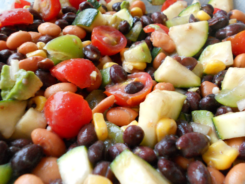 Tomato, Tomatillo, And Corn Salad With Avocado Dressing Recipes ...