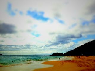 Foto vom Big Beach mit Blick in Richtung Little Beach
