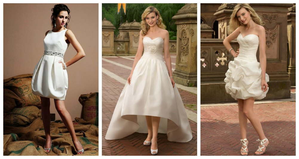 short bridal wedding dresses