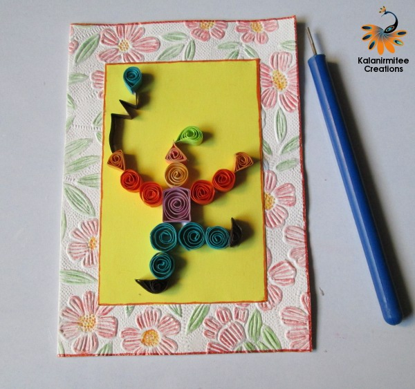 Quilling For Kids Handmade Card Kalanirmitee Creations