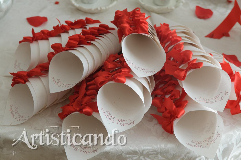 Matrimonio Tema Rosso E Bianco : Get married confettata in bianco e rosso