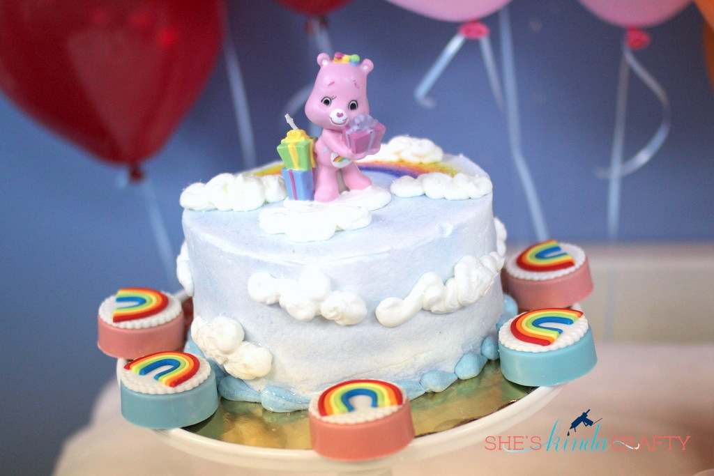 Rainbow Care Bear 5th Birthday Party Shes Kinda Crafty