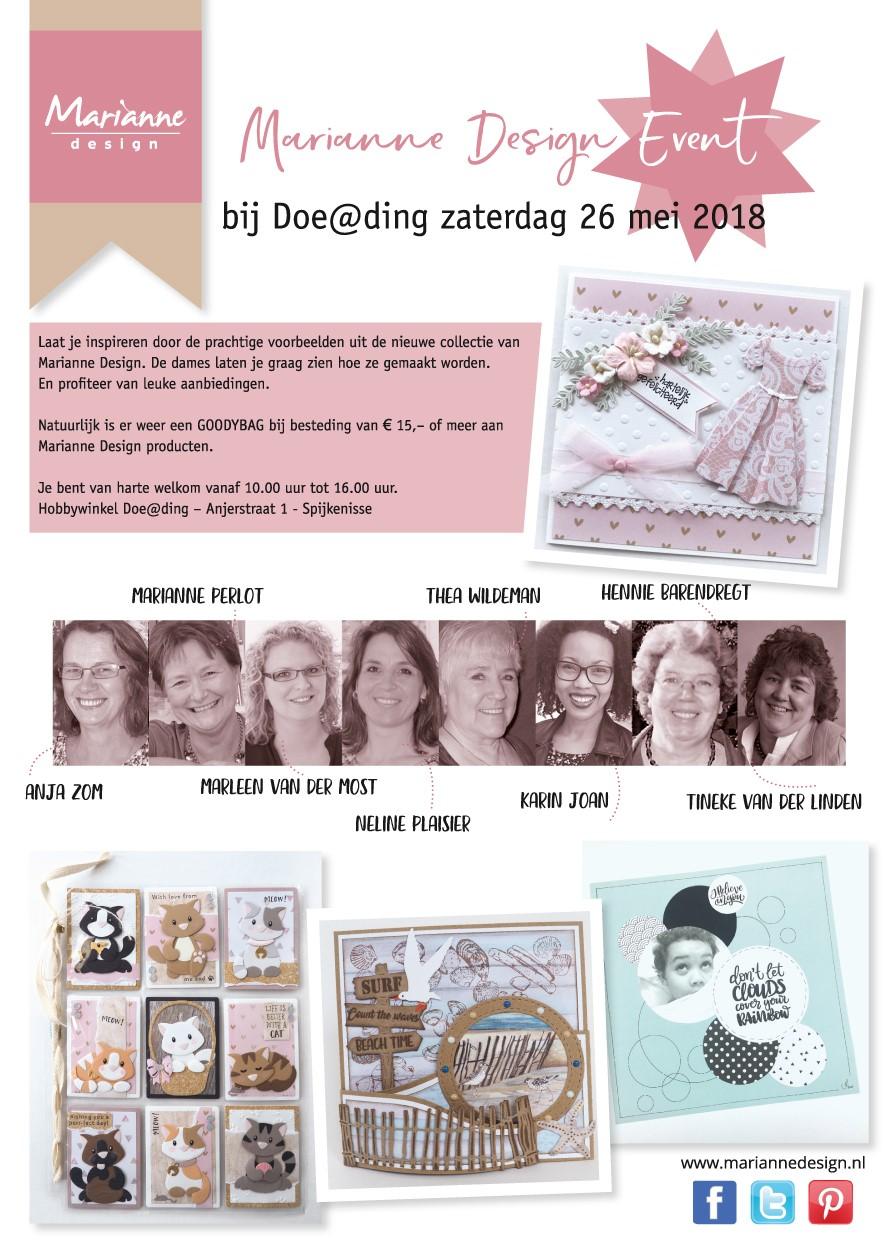 Marianne Design dag bij Doe@Ding!!