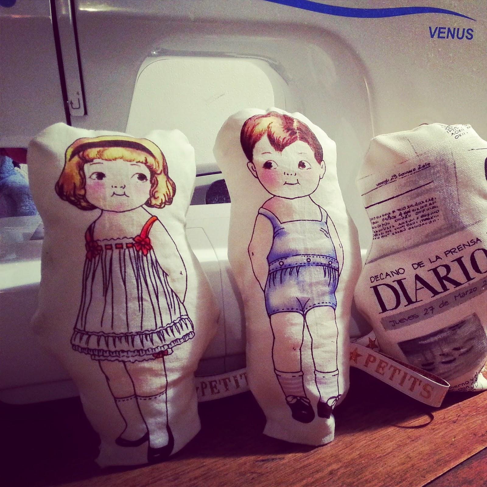 doudou déco poupée vintage tissu