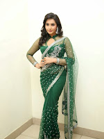 Ragini Dwivedi Glamorous photos in Green Saree-cover-photo