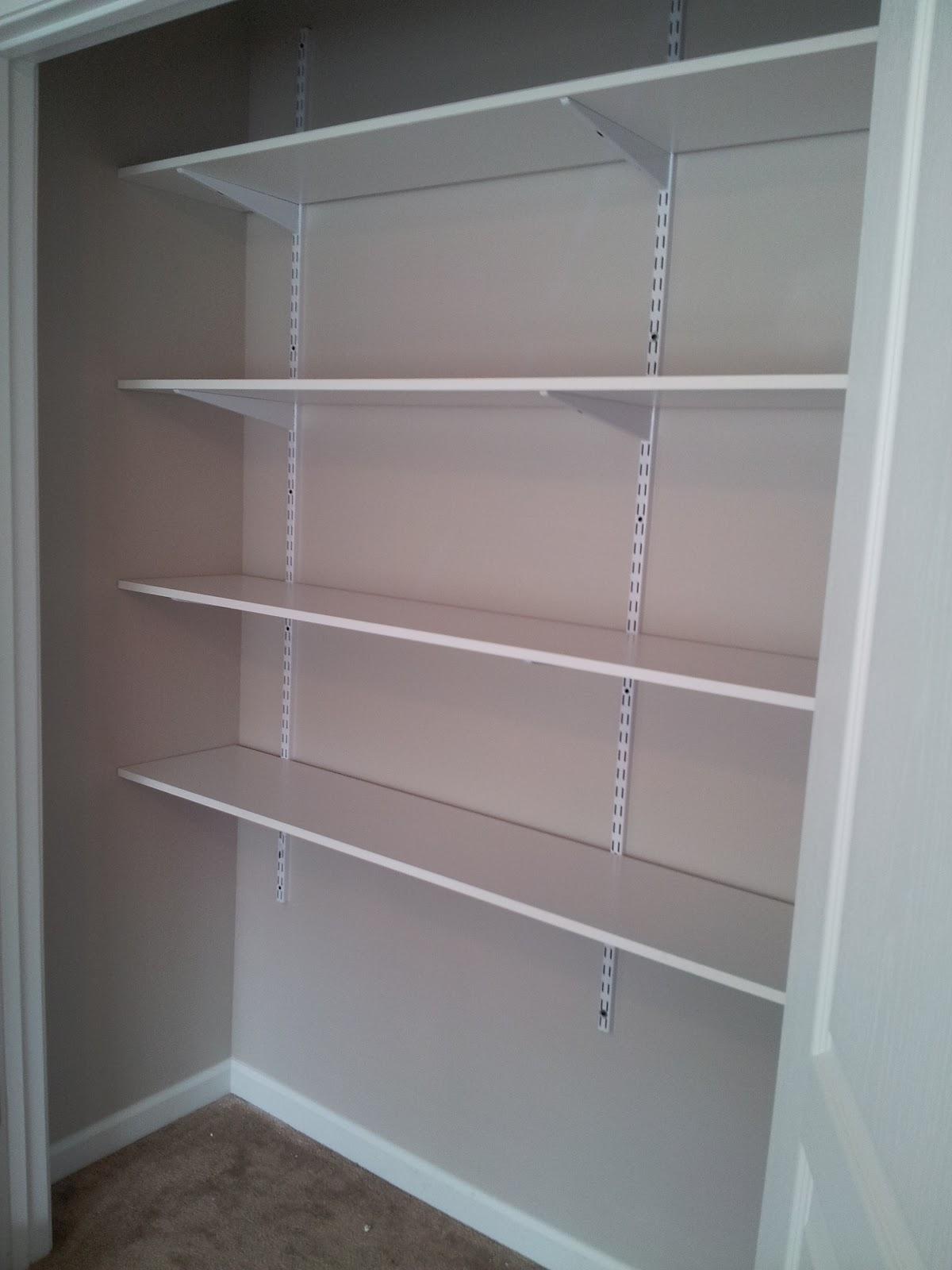 Duo ventures creativity closet makeover for Home shelving systems