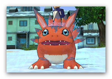 You can change digimon's size by some items. To know more about it