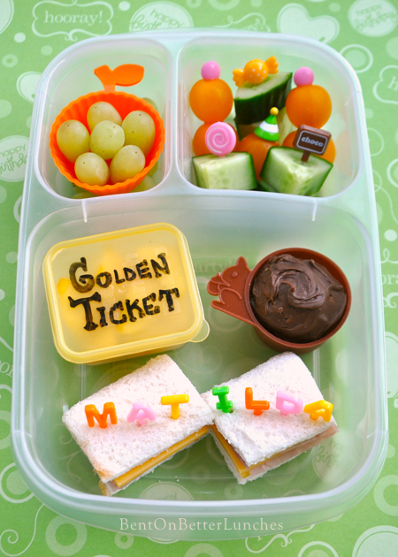 Roald Dahl Day bento school lunch by BentOnBetterLunches
