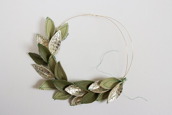 DIY leather wreath