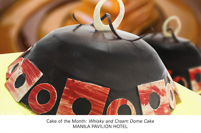 Patisserie's August Cake of the Month:  Whisky and Cream Dome Cake