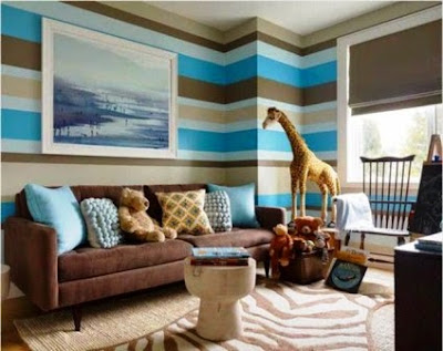 wall painting horizontal stripes ideas