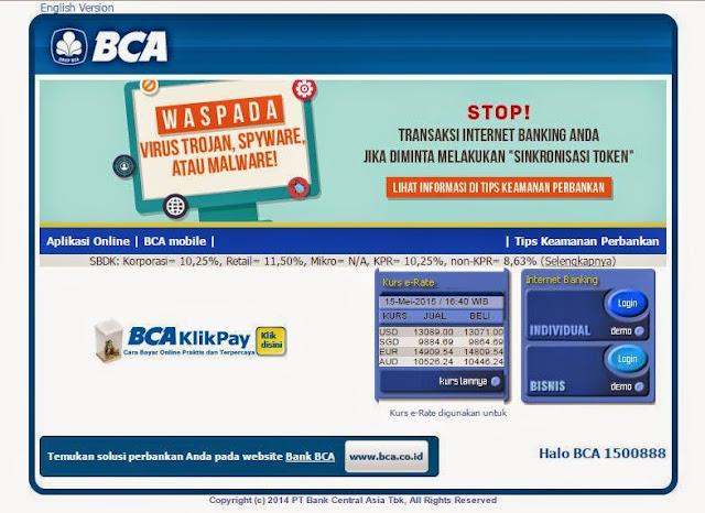 Cara registrasi internet banking bca Dan transaksi menggunakan internet banking bca