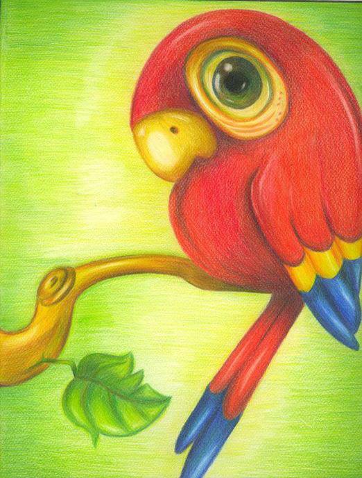 رسم بالألوان الخشبية