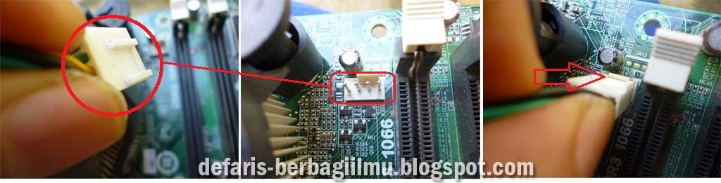 Memasang kabel power kipas prosesor intel