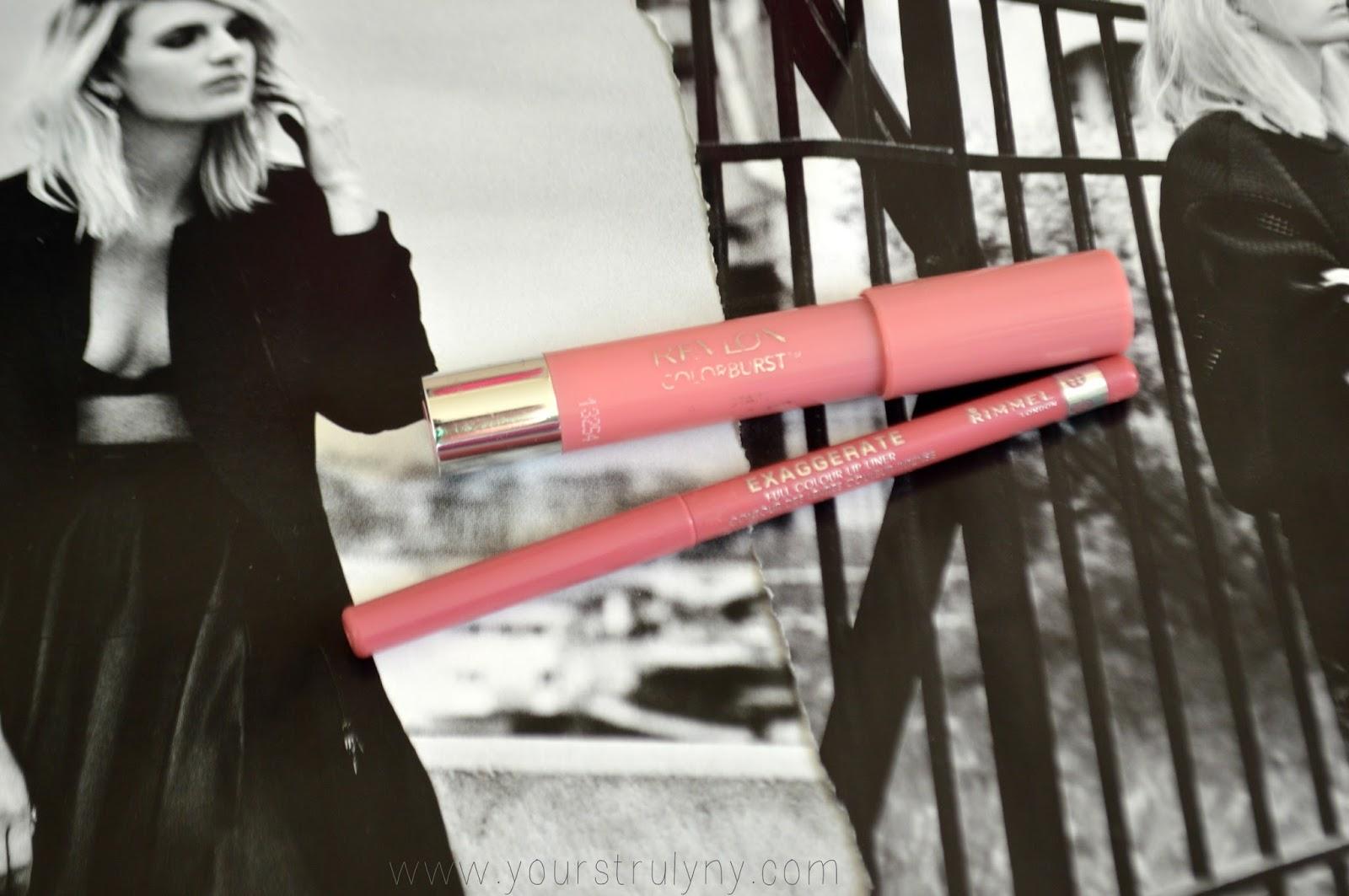 Revlon Colorburst balm Stain Rimmel Exaggerate Lip Liner
