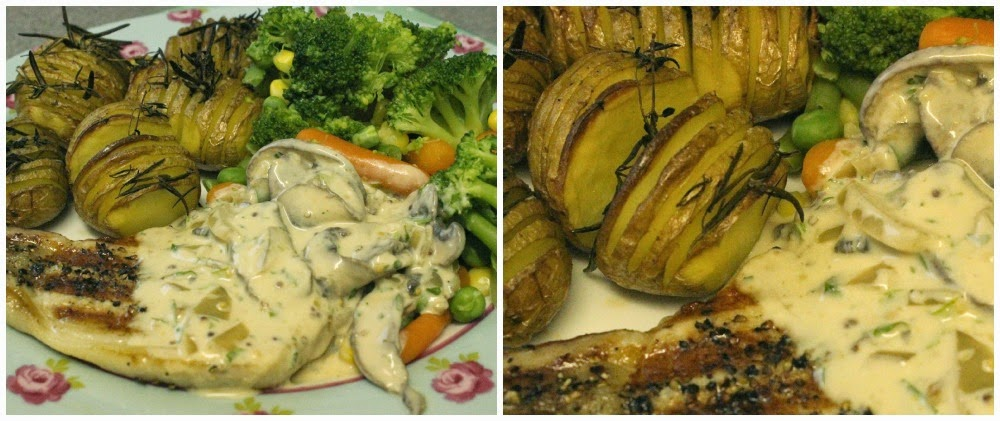 Pork Loin Steaks with Creamy Mushroom Sauce