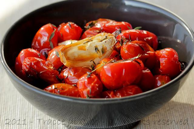 cous cous, pomodorini confit, pomodorin glassati