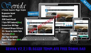 sevida v2.2.1 blogger template