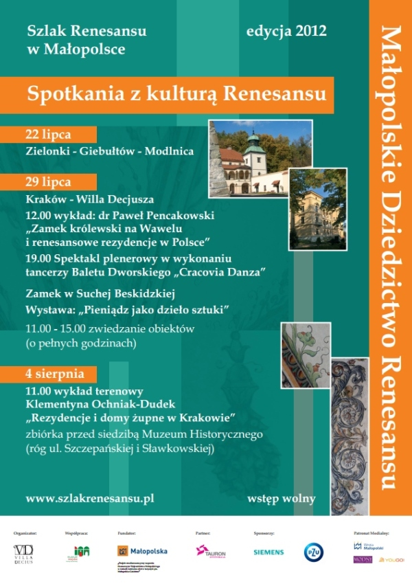 Renesans Małopolska zwiedzanie