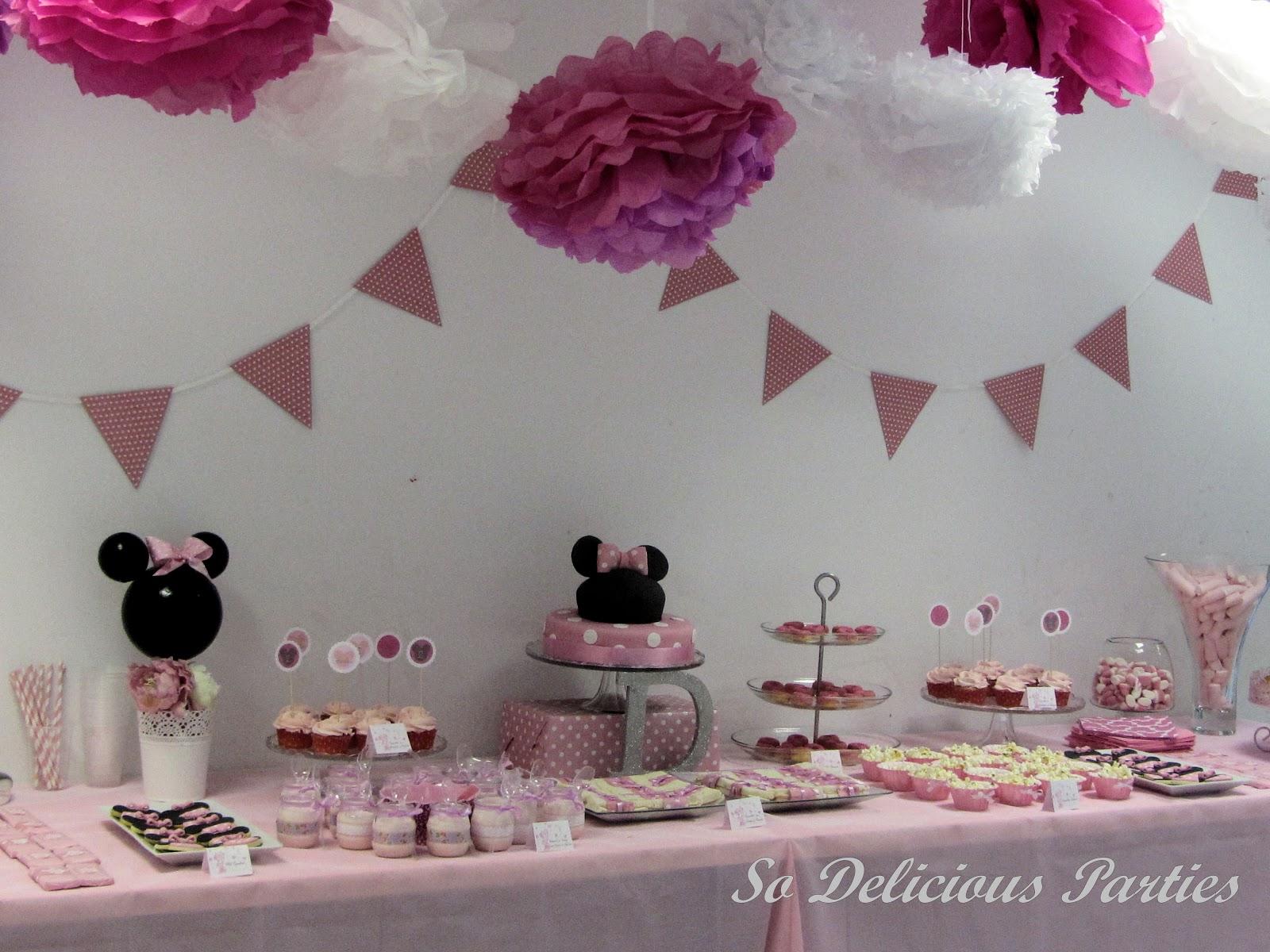 Decoracion fiesta de mimi mouse rosa imagui - Decoracion fiesta rosa ...