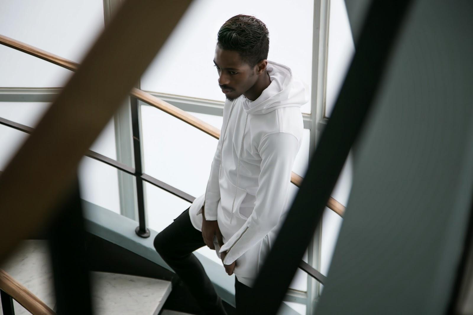 Karactor clothing jonthegold white hoodie