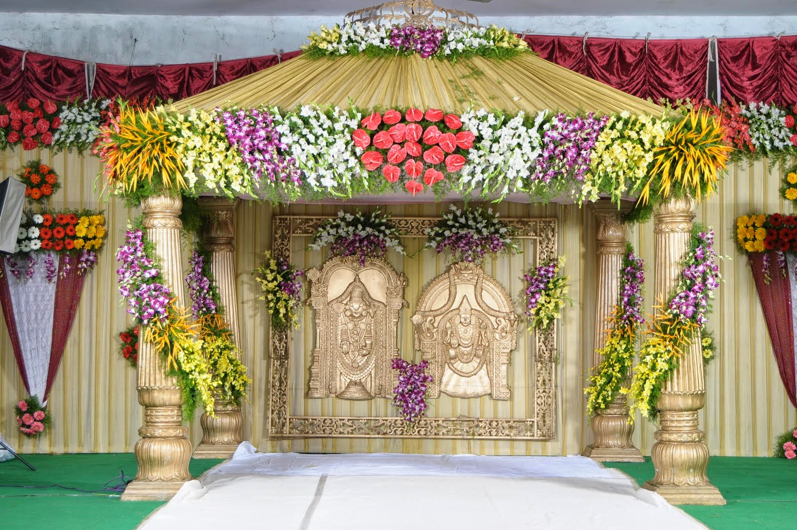 Wedding managment wedding planner in delhi wedding for Artificial flower decoration mandap