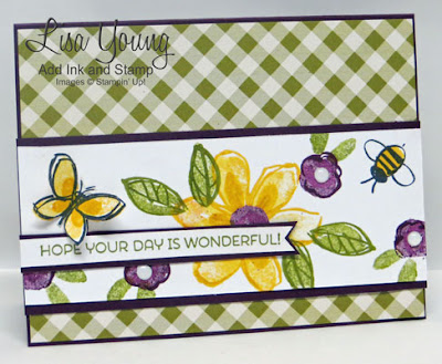Garden in Bloom stamp set by Stampin' Up! Handmade card by Lisa Young, Add Ink and Stamp