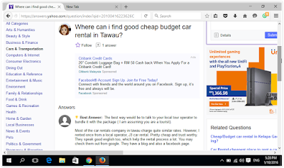 Tawau Car Rental at Yahoo Answers