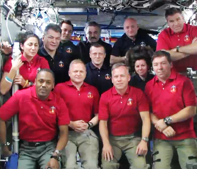 Shuttle Discovery's Mission STS-133 joined the crew of the International Space Station for 8 days of collaborative work. NASA, 2011.