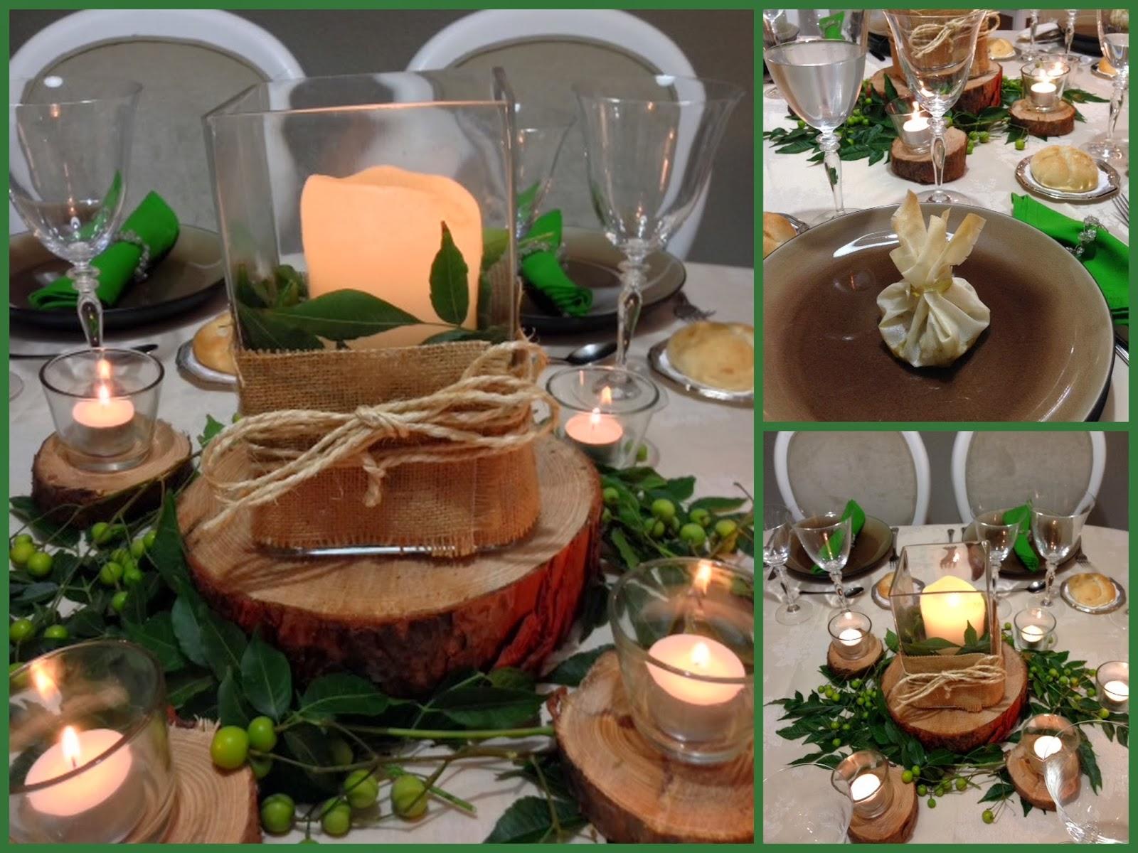 Tarde de hadas centro de mesa con troncos for Mesa tronco