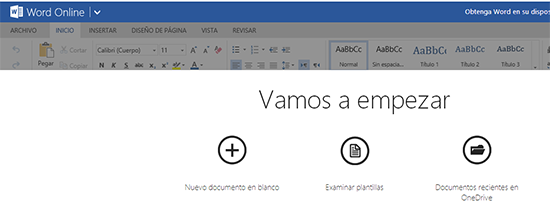 Entrar en Outlook y crear un documento Word