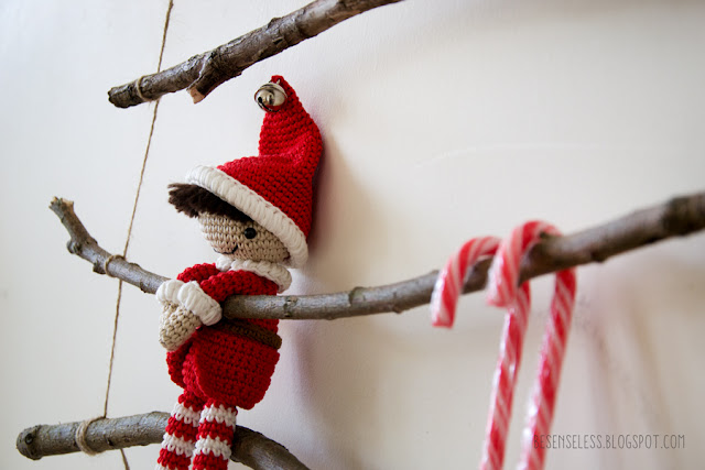 Knitting Pattern-Natale Babbo Natale Slitta-Dolce//Bambola//ELF giocattolo
