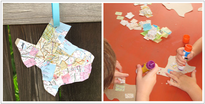 homemade map craft