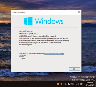 Download Windows 10 Pro Build 10122