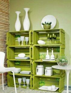 Ingeniando como hacer estantes con cajas de fruta - Cajones de fruta de madera ...