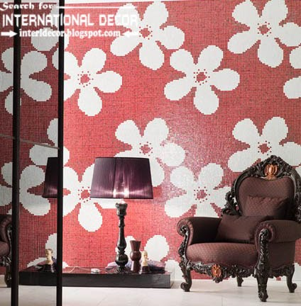 fashionable wall tiles,floral wall tiles patterns, red wall tiles