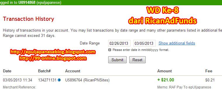 Pembayaran kedelapan dari RicanAdFunds