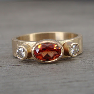 orange sapphire ring