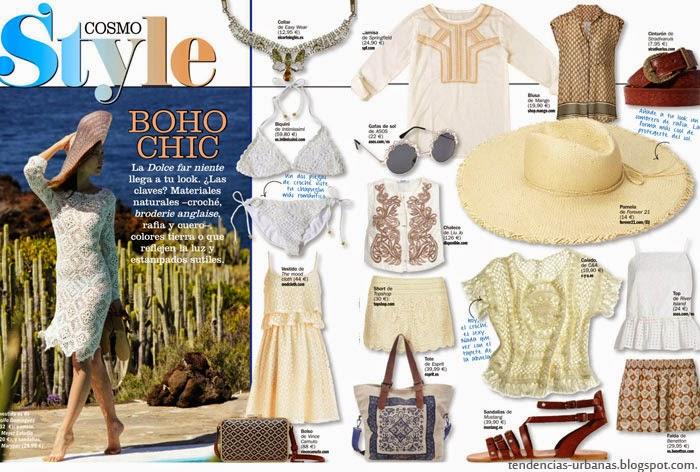 looks de moda verano 2015, estilo bohemio