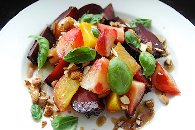 PLUM TART: Roasted Beet Salad with Whipped Goat Cheese and Maple ...