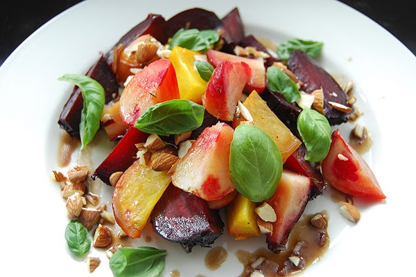 PLUM TART: Roasted Beet Salad with Whipped Goat Cheese and ...