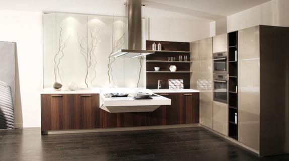 Un bloque funcional y suspendido perfectamente equipado for Diseno cocinas paralelo