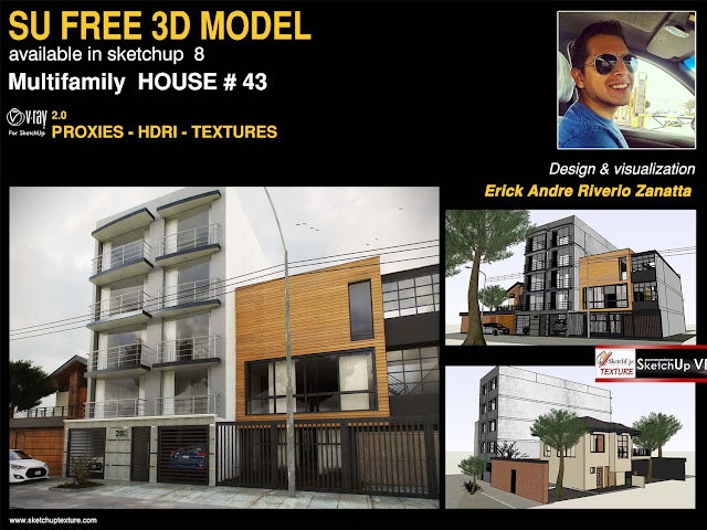 43 free sketchup 3d model multifamily house avep by erick a riverio
